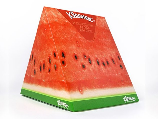 Kleenex fruit wedge uprignt box